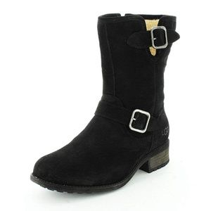 UGG Chaney' Water Resistant Suede Moto Boot -7.5
